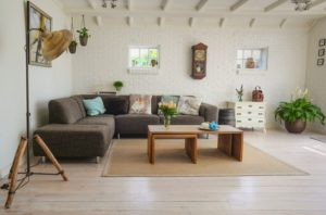 A clean, tidy living room