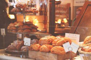 baked goods on a shelf