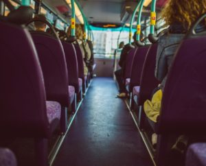 inside of a bus