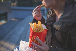 Cope with relocation stress by eating healthier.