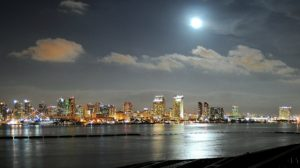 The view of San Diego