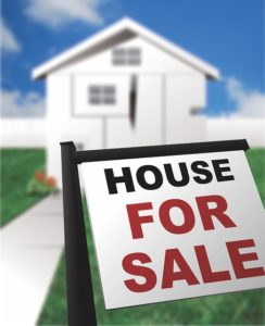 A house for sale sign