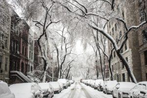Nyc streets under snow.