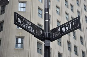Street sign for Broadway.