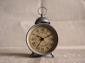 A clock.