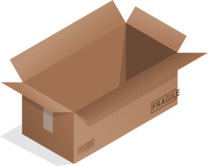 A box with a fragile sign on it.