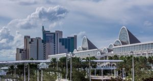 A view of buildings in Orlando.