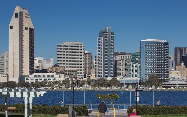 Buildings in San Diego.