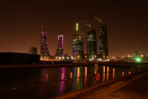Bahrain at night.