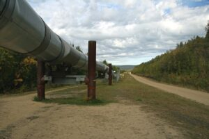The pipeline for transporting natural gas.