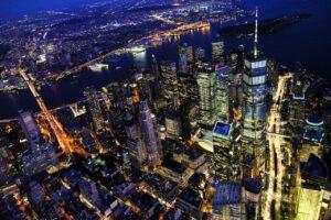 NYC view at night.