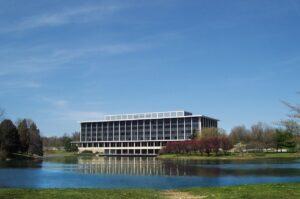 Office building in Gaithersburg, one of the places to consider when relocating to the East Coast.