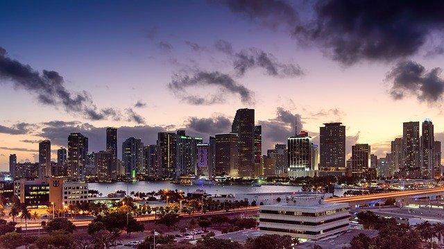 Florida skyline at night