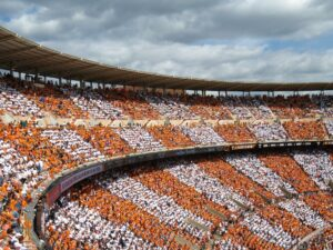A stadium in Knoxville, one of the cities you should consider when leaving California for Tennessee