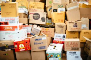 A pile of random boxes.
